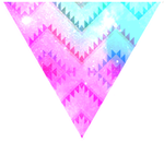 Triangle decor - Galaxy native pattern by Martith