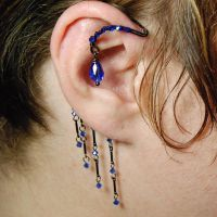 Sapphire Ear Wrap- SOLD by YouniquelyChic