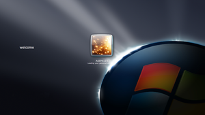 Windows XP Dark Edition V6 PowerPack Login Screen by Prateek-Kumar