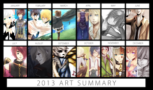 My 2013 Art Summary! by Akeita