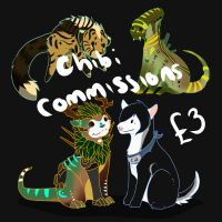 Chibi Commissions Open :) by Studios-Of-White