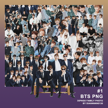 PNG*1 / BTS FAMILY PHOTO by diannnnn0130