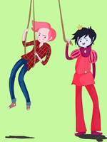 Marshall Lee + Gumball by NecroCandy