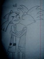 Hey Arnold - I just love you, Helga... by MatrEna0014