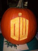 Doctor Who Pumpkin by ThePenniesInMyShoes