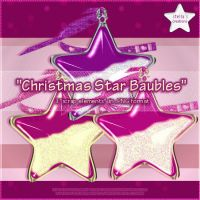 Christmas Star Baubles by Stellas-Creations