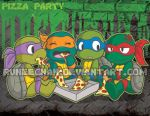 TMNT Pizza Party by runeechan