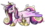 Cadence attacked by OmegaSunBurst