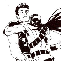 Red Robin x Superboy: inked by Tozumi-T-Grayson
