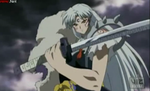 Sesshomaru with Bakusaiga by DemeterAnna