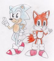 Sonic And Tails: The Classic Pair by ClassicSonicSatAm