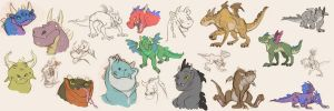 Lot's-O-Dragons by Clairictures