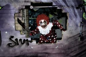 Haha said the clown by Red-Draken