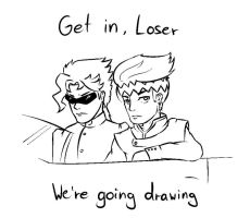 Get in, Loser - we're going drawing by Divin-Almasy