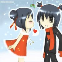 Pucca -- Mistletoe by littlelenore