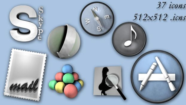 Pack icon 3D by GpByPass