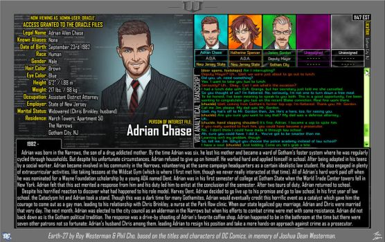 [Earth-27: Oracle Files] Adrian Chase by Roysovitch
