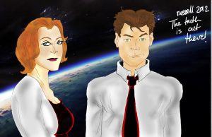 Dana Scully and Fox Mulder by fmvra1s