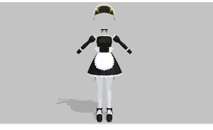 MMD maid set V6 by amiamy111