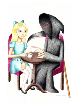 Tea with the Grim Reaper by PrettyAlice95