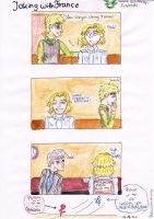 APH Joking with France by AnnHolland