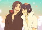 Uchiha Brothers for krestersy by polly-chan