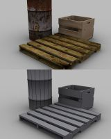 crates and barrels by Arcandio