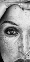 Freckled Gillian Anderson DETAIL by Fynya