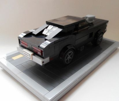 Dom's 1970 Dodge Charger (with stand) back view by Spooky42
