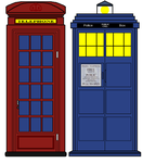 The Tardis and the Darsit by Kaiju-Borru-Zetto
