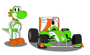 Yoshi and a Formula One : Late October 2012 by AlexYo63