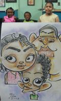 caricature- roundy sis 08 by chrisCHUA