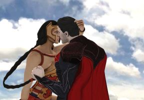 Injustice gods among us Superman And Wonder Woman by corporacion08