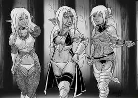 Drow High Sorceress by Shabazik