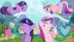 MLP Cadence And Twilight PSP Wallpaper by Hidan475