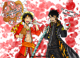 Sweet Valentine, Luffy or Law? by sanjee-chan
