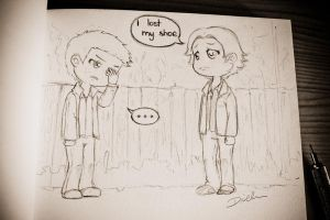 chibi SPN: I lost my shoe by katsempire