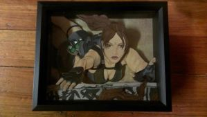 Lara Croft 3-D art by Animeartist1212