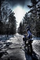 winter motocross by losiek-o