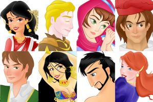 8 Portraits in Disney Style by ArsalanKhanArtist
