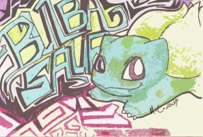 Bulbasaur Grafitti - 001 by StillJade