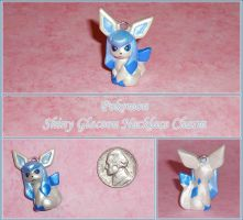 Pokemon - Shiny Glaceon Charm - Eeveelution by YellerCrakka