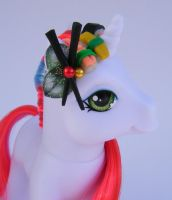 OOAK Pony Sushi Me Close up by eponyart