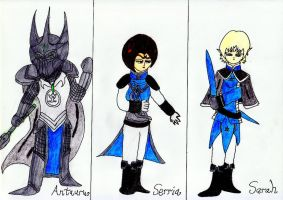 Characters From War Against Antaurus and Star 1 by lordtrigonstar