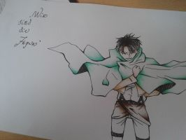 Levi's salute^^ by Exorcist95