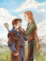 Kili and Tauriel by CaptBexx