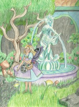 Sigyn in the Garden by DaggerRavionFall