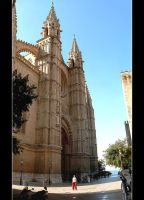 At The Foot Of Cathedral La Seou In Palma by skarzynscy