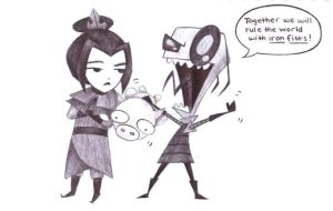 Azula and Zim by SnowGem