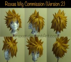 Commission::Roxas Wig 2 by Faxen